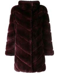 Yves Salomon - Rabbit Fur Coat - Lyst