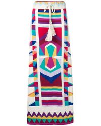 Laneus - Colour-block Maxi Skirt - Lyst