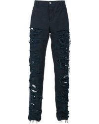 Hood By Air - Destroyed Effect Pants - Lyst
