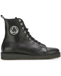 McQ - Logo Patch Military Boots - Lyst