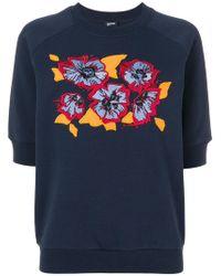 Jil Sander Navy - Floral Shortsleeved Sweatshirt - Lyst