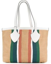Burberry - Striped Oversized Tote - Lyst