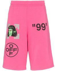 Off-White c/o Virgil Abloh - Pantalones cortos de deporte con estampado gráfico - Lyst
