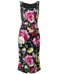 Dolce & Gabbana - Flowers Print Dress - Lyst