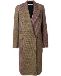 Golden Goose Deluxe Brand - Colour Block Chequered Coat - Lyst