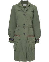 Kolor - Belted Military Coat - Lyst
