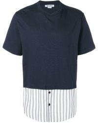 Sunnei - Striped Hem T-shirt - Lyst