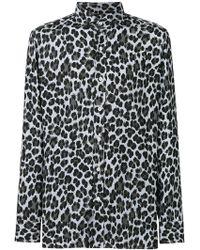 1f9b4e37 Saint Laurent Leopard Print Shirt for Men - Lyst