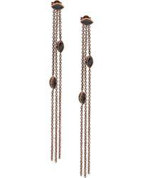 Maha Lozi - 18kt Rose Gold Waterfall Earrings - Lyst