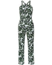 Andrea Marques - Triangle Neck Jumpsuit - Lyst