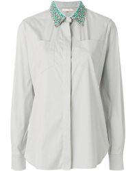 Mantu - Embellished Collar Shirt - Lyst