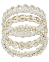 Wouters & Hendrix - My Favourite Textured Stacked Ring - Lyst