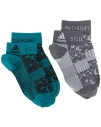 adidas By Stella McCartney - Floral Trainer Sock 2 Pack - Lyst