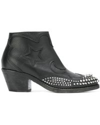28d78d2ac4e3 Lyst - McQ Pointed Stiletto Boots in Black