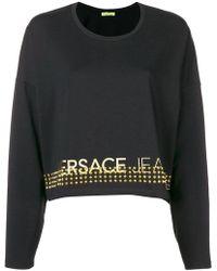 Versace Jeans - Studded Logo Sweatshirt - Lyst