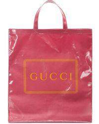 Gucci Draagtas Met Print - Roze