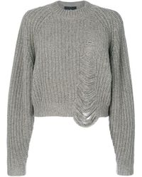 Designers Remix - Molly Ripped Jumper - Lyst