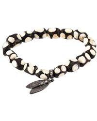 Loree Rodkin - Beaded Diamond Wing Bracelet - Lyst