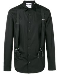 Moschino - Black Shirt With Braces - Lyst
