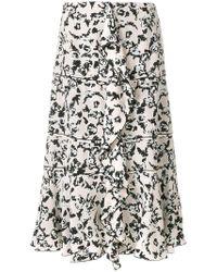 Proenza Schouler - Ruffle Floral Print Skirt - Lyst