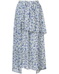 Christian Wijnants - Ruffle Trim Floral Skirt - Lyst