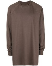Rick Owens - Relaxed Fit Sweatshirt - Lyst