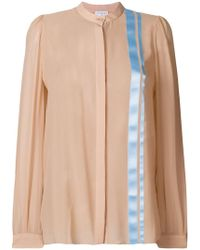 Vionnet - Stripe Detail Floaty Blouse - Lyst