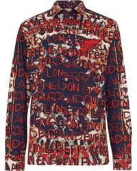 Burberry - Graffiti Archive Scarf Print Cotton Shirt - Lyst