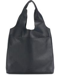 Jil Sander Navy - Embossed Double Handle Tote Bag - Lyst
