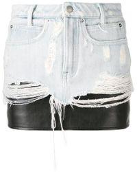 Alexander Wang - Layered Denim Skirt - Lyst