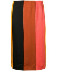 M Missoni - Striped Pencil Skirt - Lyst