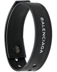 Balenciaga Bracelet Texturé à Logo