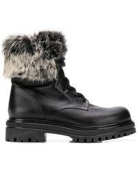Albano - Fur Trim Boots - Lyst