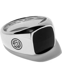 David Yurman - Exotic Stone Onyx Signet Ring - Lyst