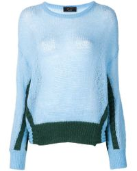 Ki6? Who Are You? - Panelled Knit Jumper - Lyst
