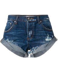 One Teaspoon - Bandit Denim Shorts - Lyst