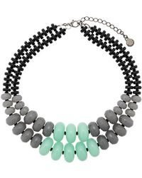 Emporio Armani - Double Stranded Necklace - Lyst