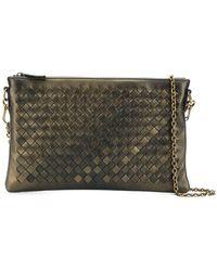 Bottega Veneta Snakeskin Medium Intrecciato Cosmetic Bag in Red - Lyst 15d0932265933
