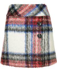 Boutique Moschino - Plaid Mini Skirt - Lyst
