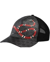 Gucci - Baseballkappe mit Schlangenmotiv - Lyst