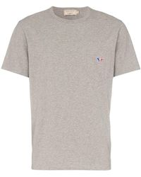 Maison Kitsuné - T-Shirt mit Tasche - Lyst