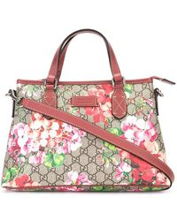 Gucci - Floral Print Tote - Lyst