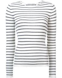 Vince - Striped Sweater - Lyst