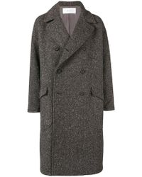 Julien David - Classic Double-breasted Coat - Lyst