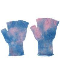 The Elder Statesman - Tie-die Fingerless Gloves - Lyst