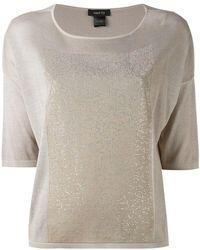 Avant Toi - Metallic Panel T-shirt - Lyst