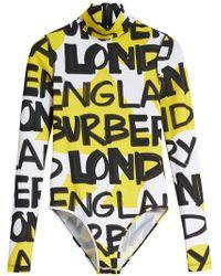 Burberry - Body mit Print - Lyst