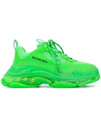 Balenciaga - Men's Triple S Mesh & Leather Clear-sole Sneakers - Lyst