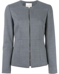 Erika Cavallini Semi Couture | Collarless Fitted Jacket | Lyst