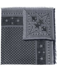 Givenchy - Stars Embroidered Scarf - Lyst